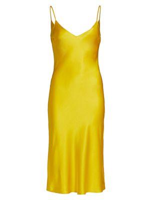 Dannijo Women's Silk Midi Slip Dress In Daffodil