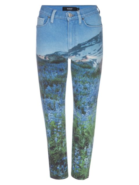 Hudson Barbara High-Rise Mountain Print Jeans   SaksFifthAvenue
