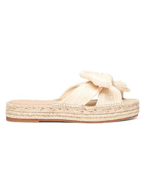 Loeffler Randall Juniper Pleated Knot Espadrille Slip-On Sandals
