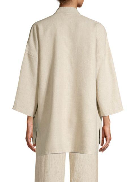 Eileen Fisher Linen Open-Front Jacket   SaksFifthAvenue
