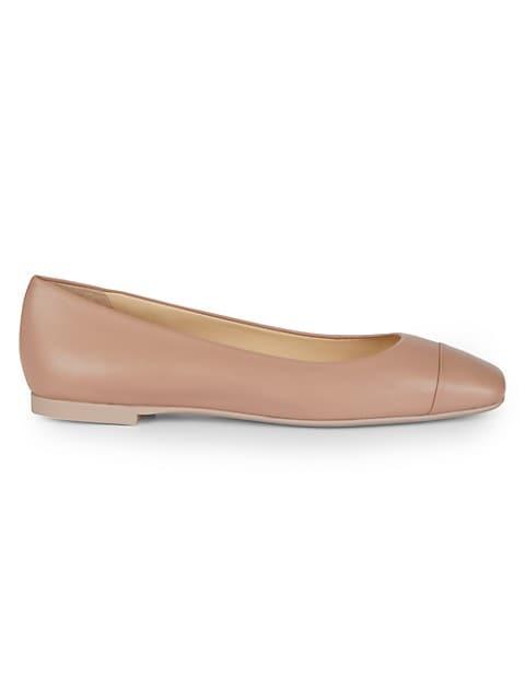 Gloris Square-Toe Leather Ballet Flats