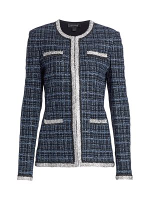 St. John Lustrous Plaid Jacket