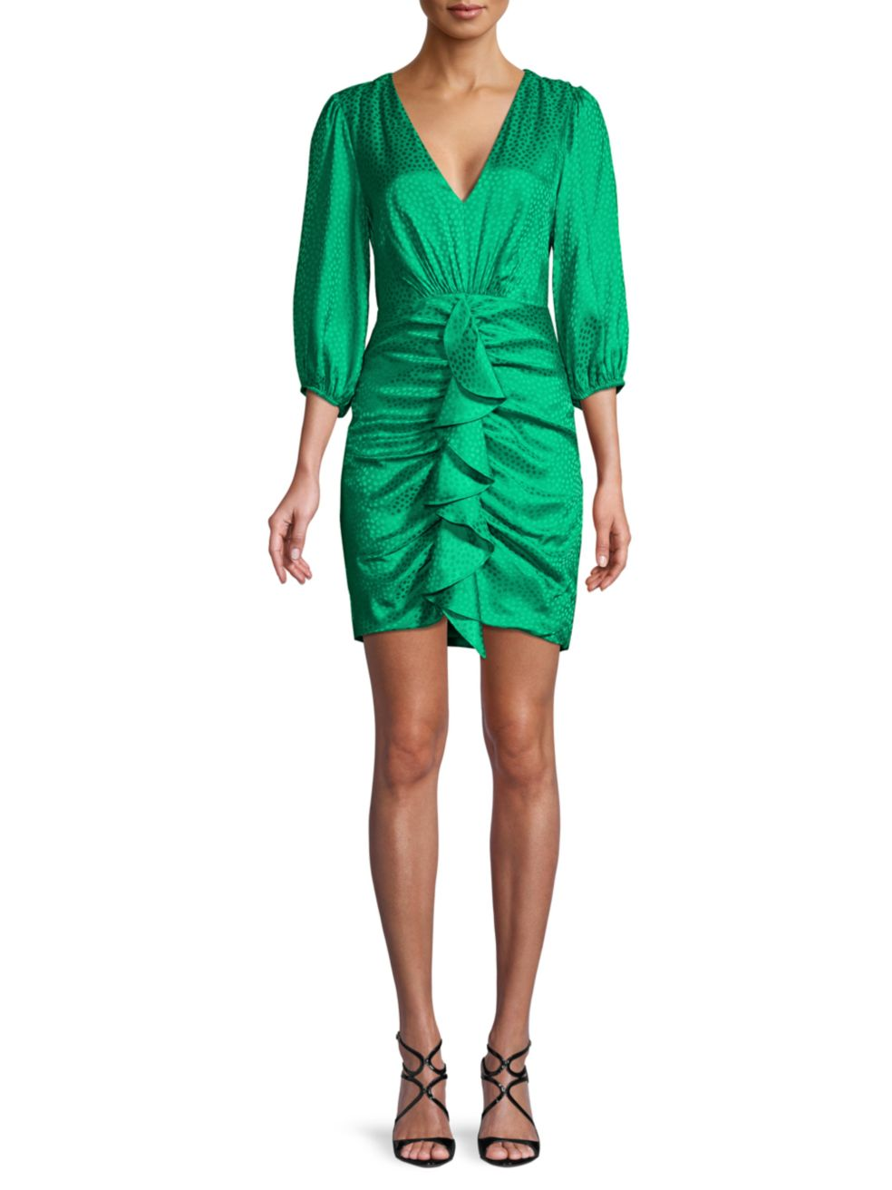 BCBGMAXAZRIA Eve Draped Mini Dress   SaksFifthAvenue