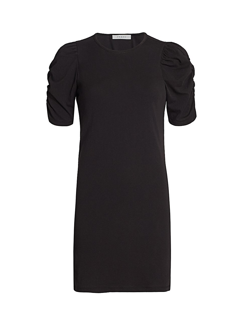 Frame Women's Gathered Puff-sleeve Dress In Black