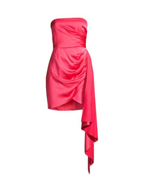 Jay Godfrey Milton Draped Satin Dress   SaksFifthAvenue