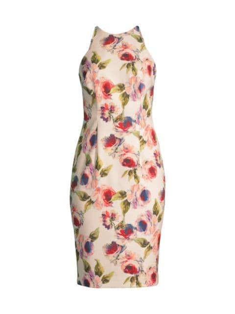 Black Halo Alexandria Floral Dress   SaksFifthAvenue