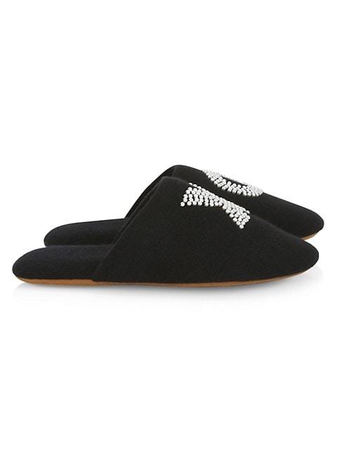 Pearl XO Embellished Slippers
