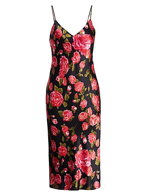 Jodie Floral Silk Slip Dress