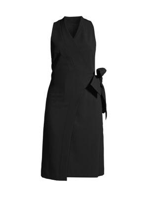 Donna Karan Double Weave Wrap Dress