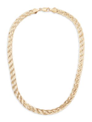 Lana Jewelry Women's 14k Liquid Gold Braided Choker Necklace