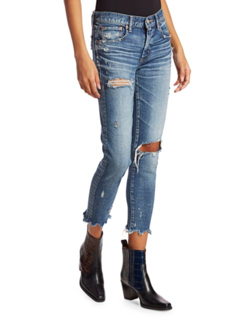 Moussy Vintage Ridgewood Distressed Skinny Jeans   SaksFifthAvenue