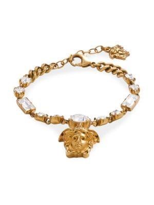 Versace Medusa Crystal Link Bracelet