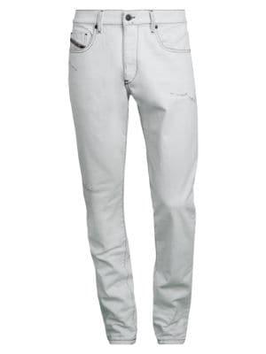 Diesel Men's Strukt Slim-fit Jeans In White Black