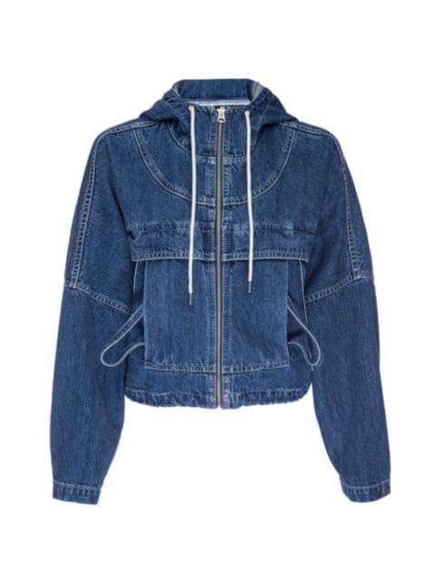 Hudson Denim Hooded Jacket   SaksFifthAvenue