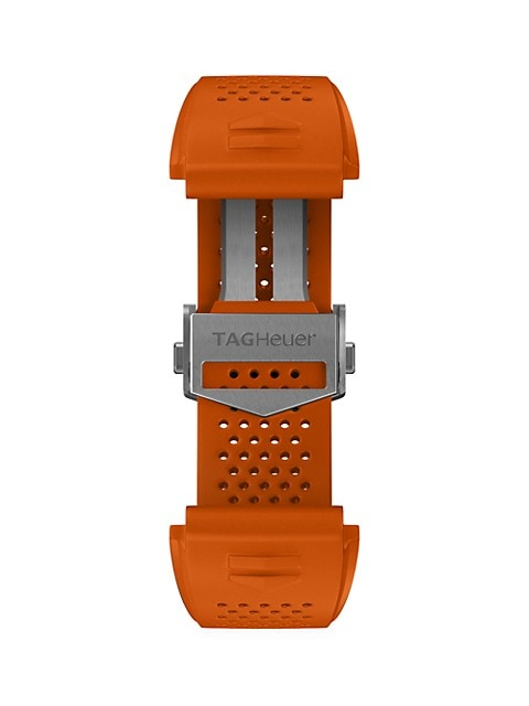 Modular Connected Orange Rubber Watch Band
