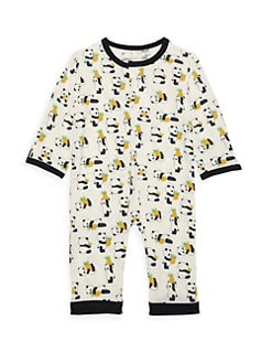 Le Top Baby Boys Dino In The City T-Rex Dinosaur Striped Coveralls 1-Piece New
