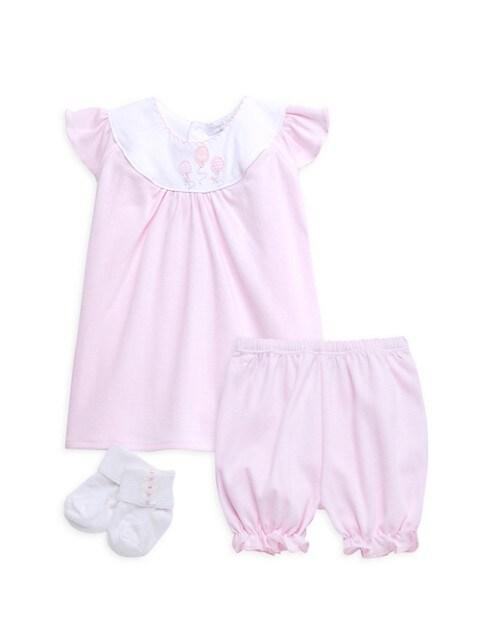Baby Girl's Balloon 3-Piece Dress, Bloomers & Socks Set