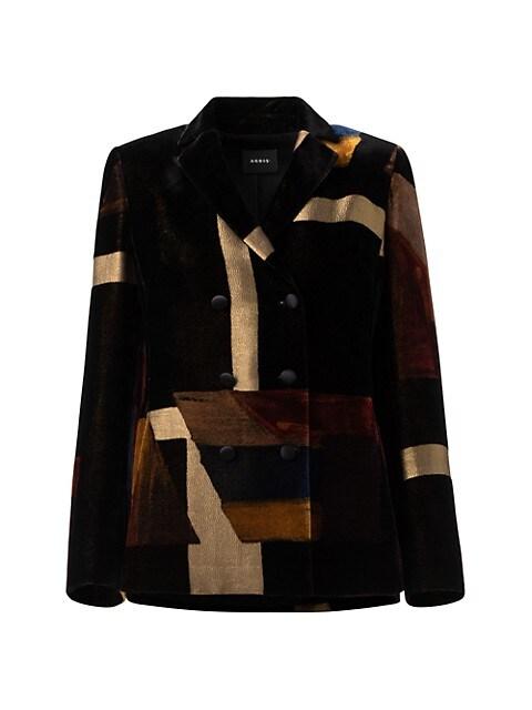 Lena Double Breasted Velvet Jacket
