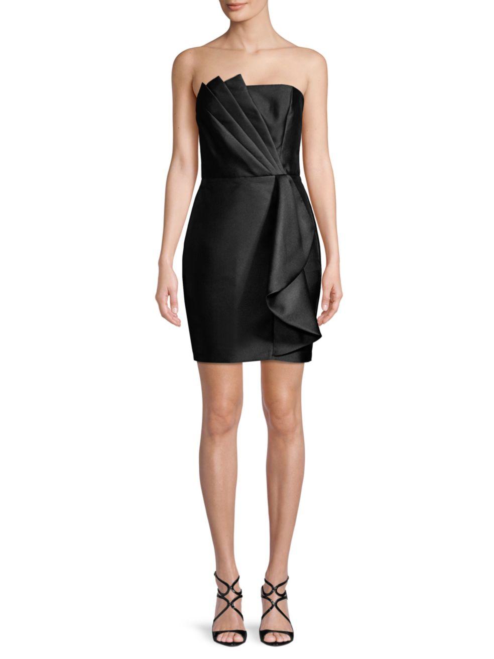 Parker Black Merida Strapless Satin Mini Dress   SaksFifthAvenue