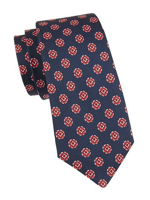 Geo Medallion Silk Tie