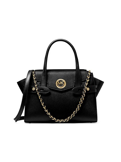 Small Carmen Belted Leather Satchel