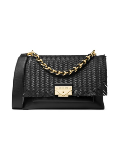 MICHAEL Michael Kors Medium Cece Woven Leather Shoulder Bag | SaksFifthAvenue