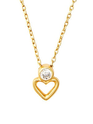 Orti Jewelry Love Forever Gold Plated Double Necklace with Cubic Zirconia