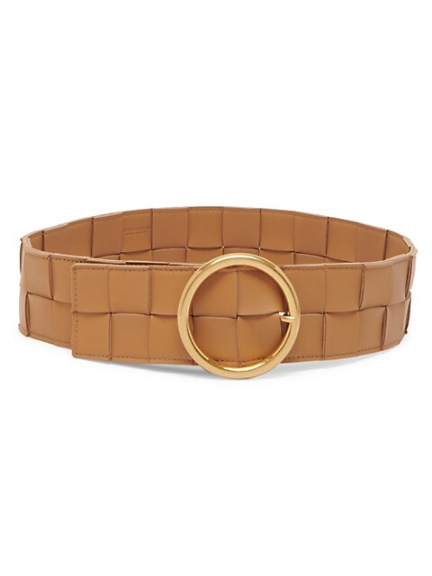 Intrecciato Leather Wide Belt