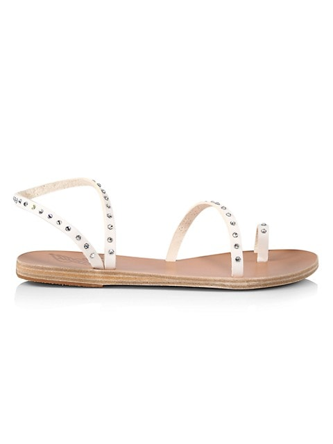 Apli Eleftheria Crystal-Embellished Vinyl Sandals