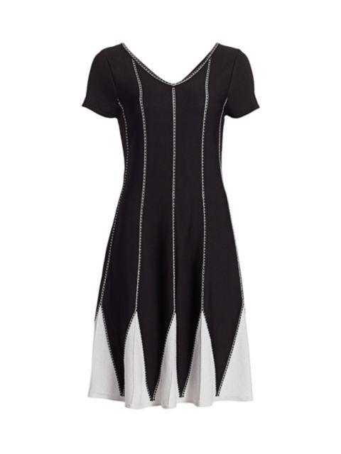 NIC+ZOE, Petites Petunia Knit Twirl Dress | SaksFifthAvenue