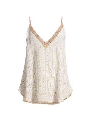 Camilla Women's V-neck Silk Camisole In The Queens