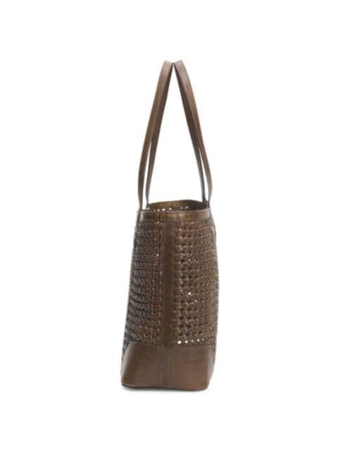 Frye Melissa Woven Leather Shopper | SaksFifthAvenue