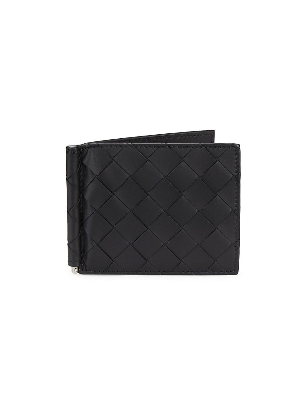 보테가 베네타 Bottega Veneta Intrecciato Vertical Cardholder,BLACK