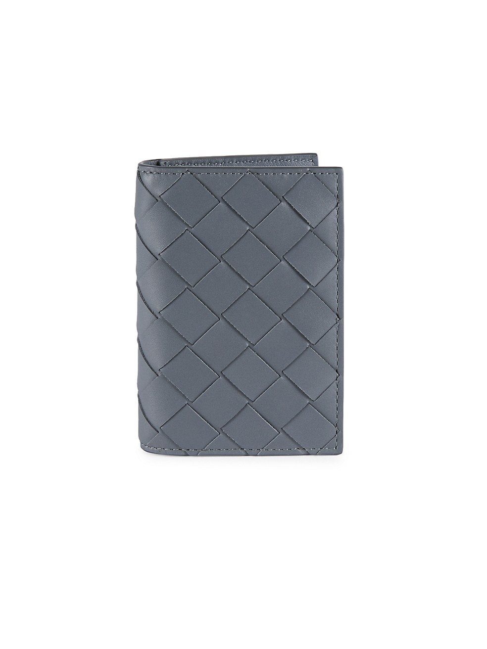 보테가 베네타 Bottega Veneta Intrecciato Leather Card Case,ARGENTO
