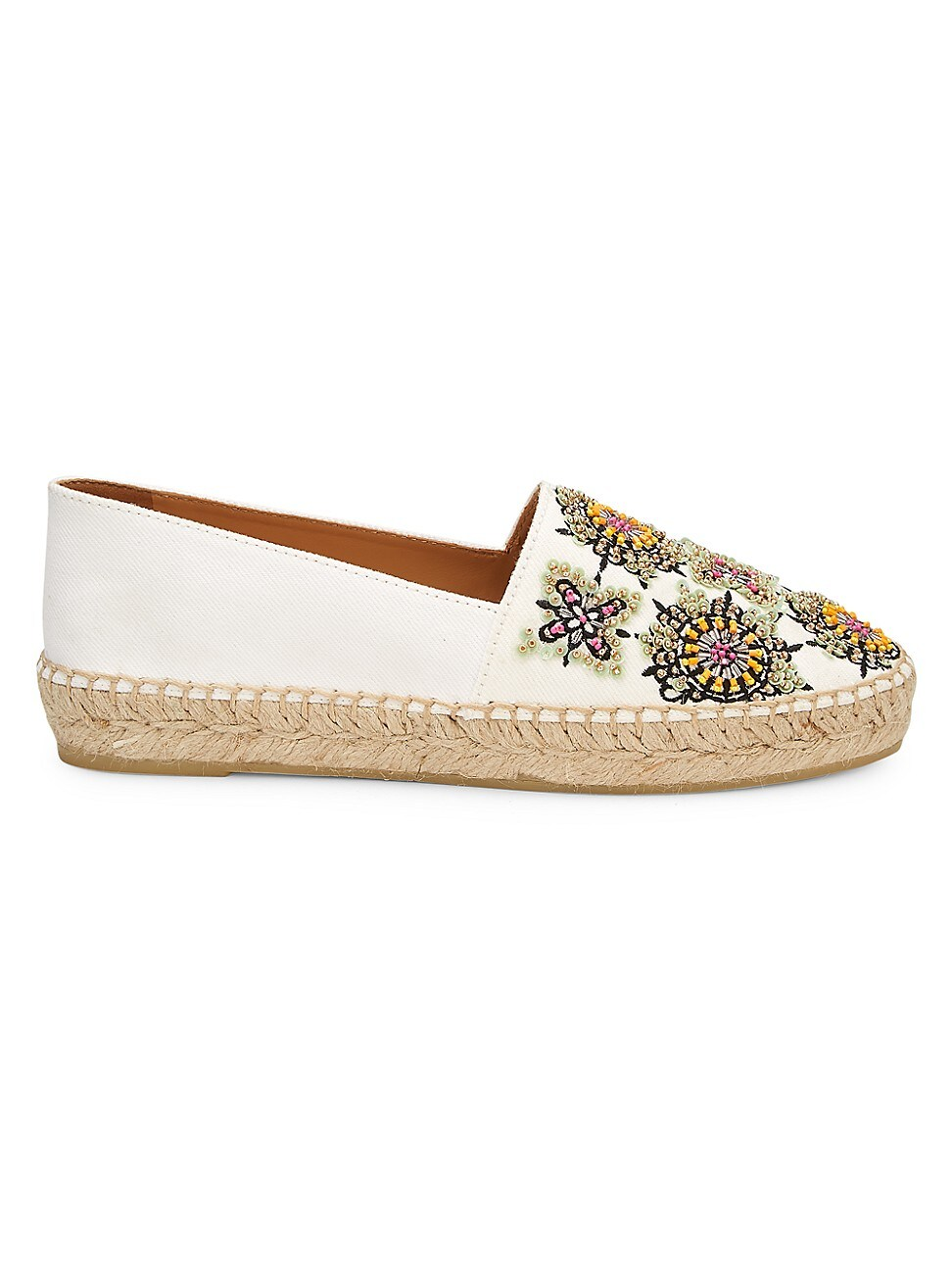 Miu Miu WOMEN'S EMBROIDERED CANVAS ESPADRILLES