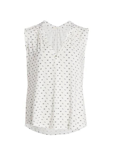 Parasols Sleeveless Pajama Top