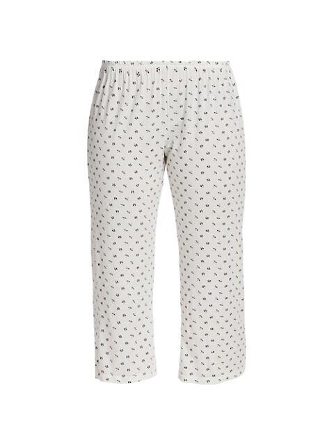 Parasols Printed Capri Pajama Pants