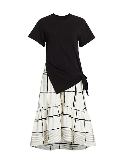 Combo Plaid T-Shirt Dress