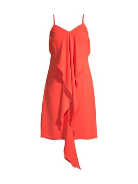 Trina Turk Starry Drape-Front Dress | SaksFifthAvenue