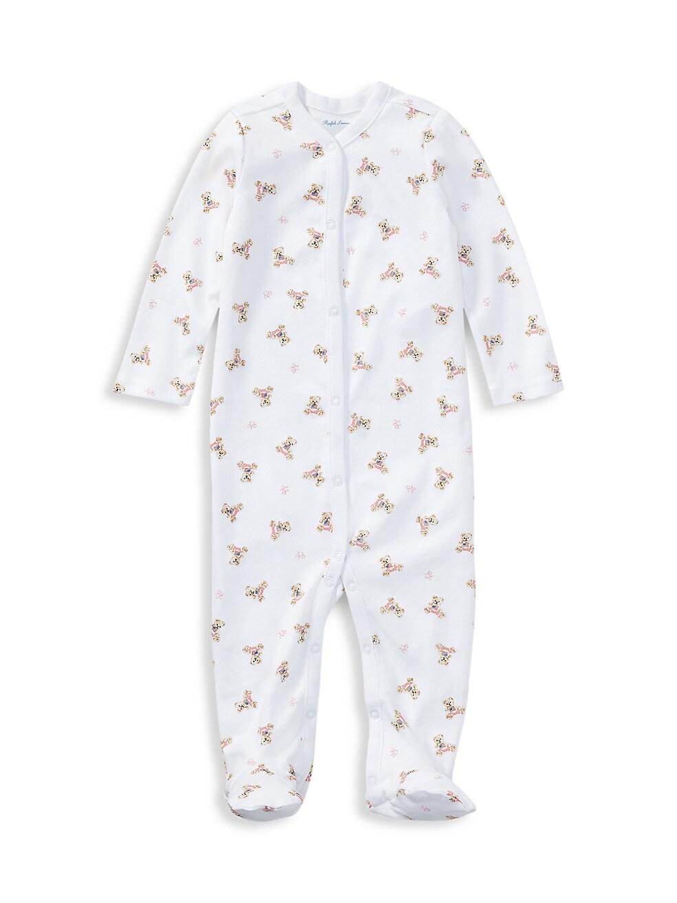 폴로 랄프로렌 베이비 아기옷 우주복  Polo Ralph Lauren Babys Polo Bear Footie,WHITE