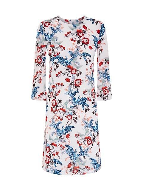 Floral Silk Shift Dress