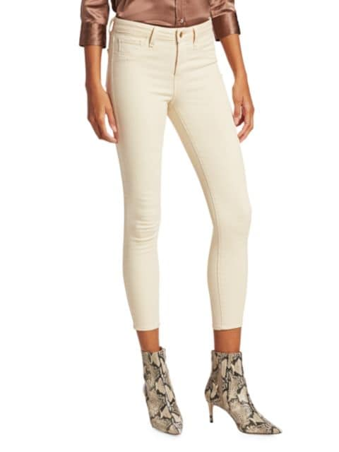 L'Agence Margot Low-Rise Cropped Skinny Jeans | SaksFifthAvenue
