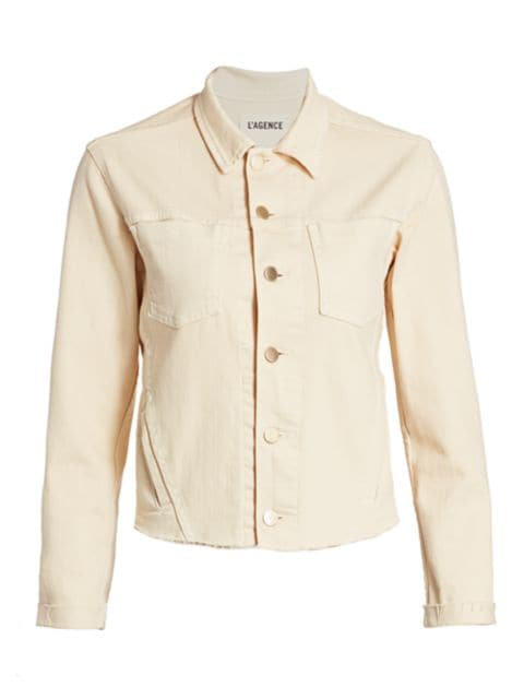 L'Agence Janelle Slim Trucker Jacket | SaksFifthAvenue