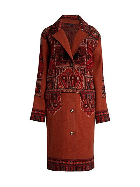 Paisley Wool Coat