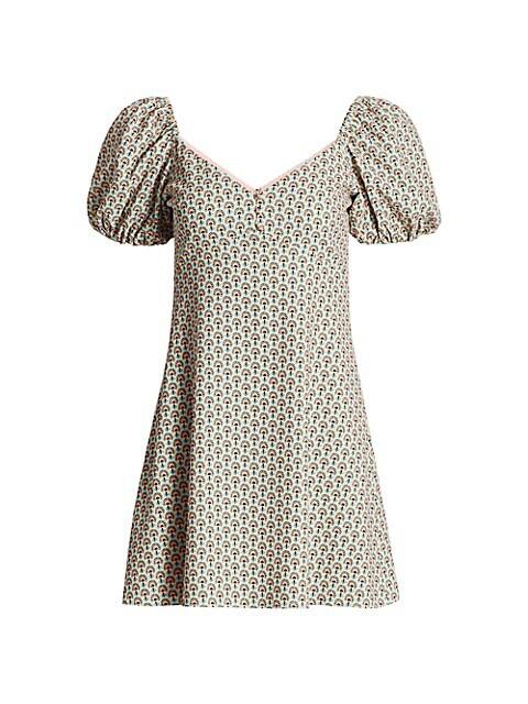 Dana Puff-Sleeve Empire Mini Dress