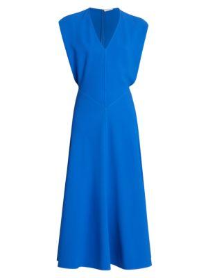 Victoria Beckham Sleeveless Dolman Midi Dress