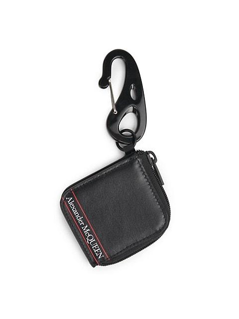 Mini Tech Purse Leather Key Ring