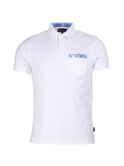 Tartan Pocket Trim Polo Shirt