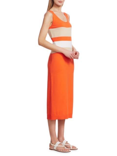 Joan Vass Colorblock Sweater Dress | SaksFifthAvenue