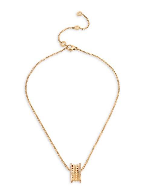 B.zero1 Rock 18K Yellow Gold & Diamond Pendant Necklace